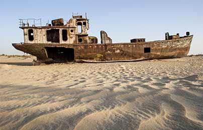 Photographie de Gilles Martin : Mer d'Aral