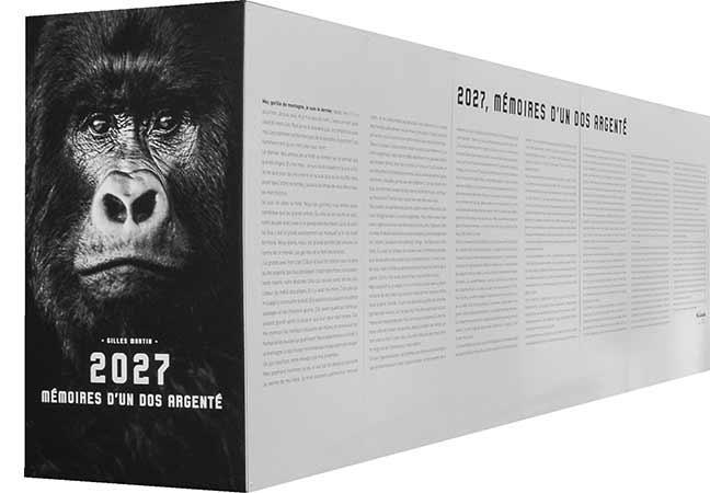 Face avant du mémorial des mémoires du gorille