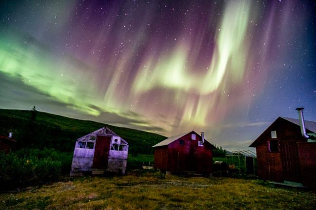 Photographie d'aurores boréales de Charles Cherrier