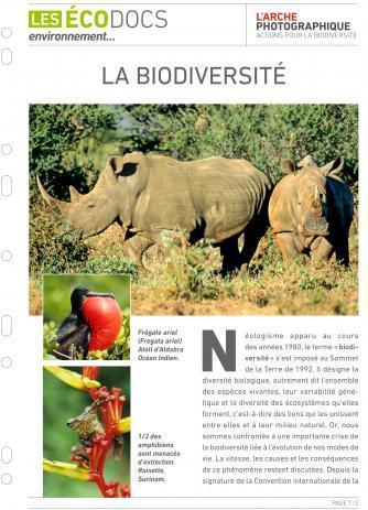 Première page de La biodiversité