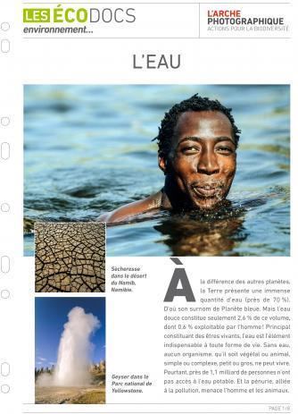 Première page de L'eau